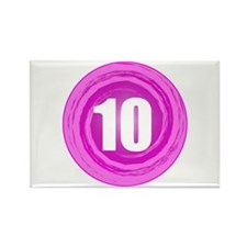Girls 10th Pink B-day Rectangle Magnet