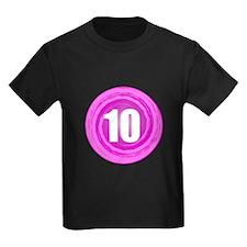Girls 10th Pink B-day T
