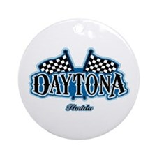 Daytona Flagged Ornament (Round)