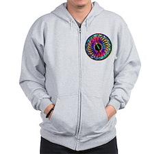 Sumi Style Mandala Zip Hoodie