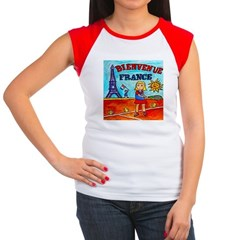 Bienvenue France Women's Cap Sleeve T-Shirt