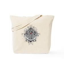 Faith Cross Oral Cancer Tote Bag