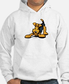 Airedale at Play Hoodie