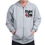 Fight On Oral Cancer Zip Hoodie