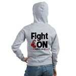 Fight On Oral Cancer Women's Zip Hoodie