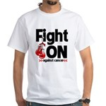 Fight On Oral Cancer White T-Shirt