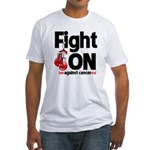 Fight On Oral Cancer Fitted T-Shirt