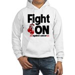 Fight On Oral Cancer Hooded Sweatshirt