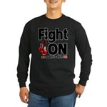 Fight On Oral Cancer Long Sleeve Dark T-Shirt