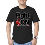 Fight On Oral Cancer Men's Fitted T-Shirt (dark)