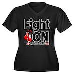 Fight On Oral Cancer Women's Plus Size V-Neck Dark