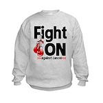 Fight On Oral Cancer Kids Sweatshirt