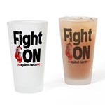 Fight On Oral Cancer Drinking Glass