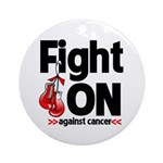 Fight On Oral Cancer Ornament (Round)