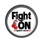 Fight On Oral Cancer Wall Clock