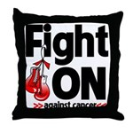 Fight On Oral Cancer Throw Pillow