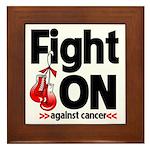Fight On Oral Cancer Framed Tile