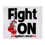 Fight On Oral Cancer Throw Blanket