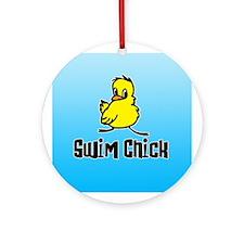 Swim Chick Ornament (Round)