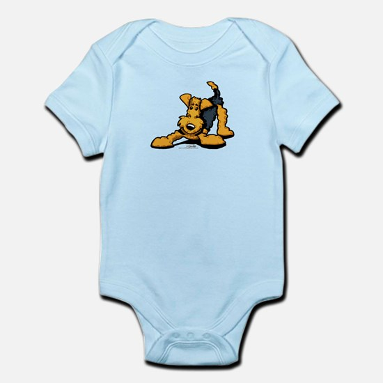 Airedale at Play Infant Bodysuit