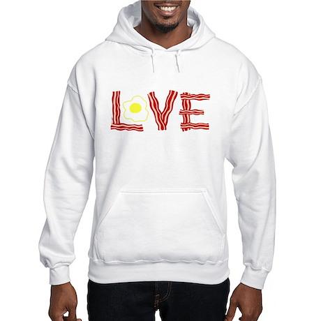 Love Bacon and Eggs Hooded Sweatshirt