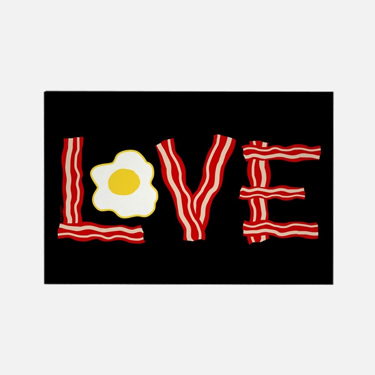 Love Bacon and Eggs Rectangle Magnet (10 pack)