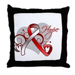 Hope Oral Cancer Throw Pillow