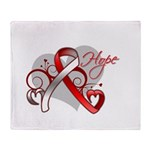Hope Oral Cancer Throw Blanket
