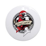 Hope Cure Oral Cancer Ornament (Round)