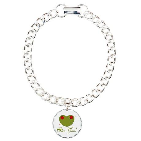 Olive You Charm Bracelet, One Charm