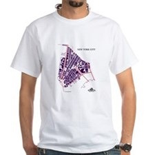 NYC Men's T-Shirt Purple on Shirt