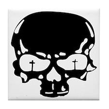 GFR Tile Coaster - Skull (blk)