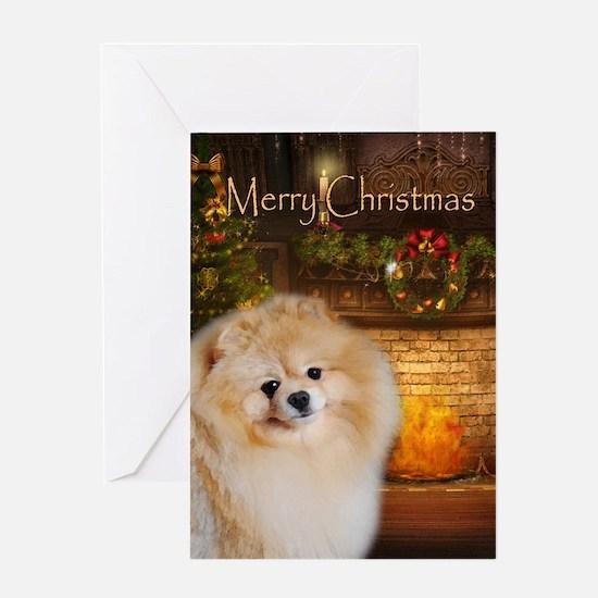 Pomeranian Holiday Card