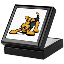 Airedale at Play Keepsake Box