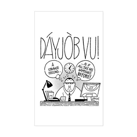 DáyJòb Vu Sticker (Rectangle)