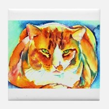 Orange Cat Tile Coaster
