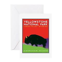 Yellowstone NP: Bison Greeting Card