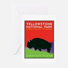 Yellowstone NP: Bison Greeting Card