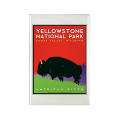 Yellowstone NP: Bison Rectangle Magnet (100 pack)