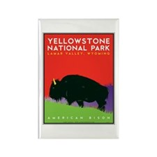 Yellowstone NP: Bison Rectangle Magnet (10 pack)