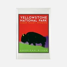 Yellowstone NP: Bison Rectangle Magnet
