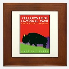 Yellowstone NP: Bison Framed Tile