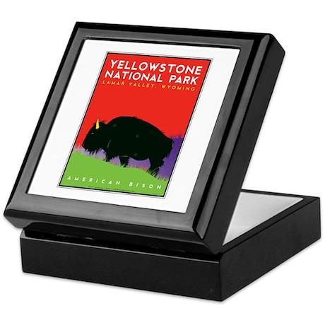 Yellowstone NP: Bison Keepsake Box