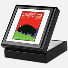 Yellowstone NP: Bison Keepsake Box