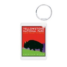 Yellowstone NP: Bison Keychains