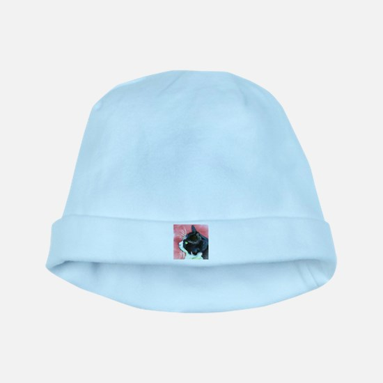Tuxedo Cat baby hat