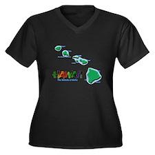 Hawaii-map Plus Size T-Shirt