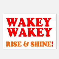 WAKEY WAKEY - RISE SHINE Postcards (Package of 8)