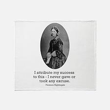 Florence Nightingale Throw Blanket