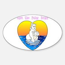 Save the Polar Bears Decal